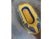 Child's rubber boat dinghy inflatable pool toy/float