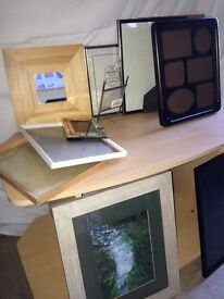 Picture picture frame mirror job lot 11 items see photos framer mantle ornament