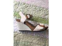 Clarkes Wedge sandal size 4