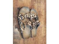 Joules ladies leopard print sandals. Brand new. Size 6