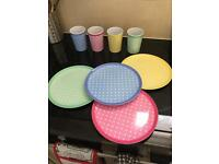Plastic plate & cup set