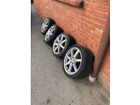 "Genuine 18"" amg alloys with Pirelli tyres (perfect condition)"