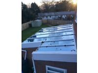 Conservatory roof, Pilkington Active Blue glass 3 years old 12 glass Panels