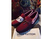 Louis Vuitton suede driving shoes