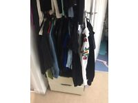 Ikea Stolmen Open Wardrobe, drawers, clothes rails and shelves 330cm long in total