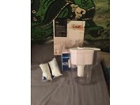 Water filter jug plus 2 extra filters only 10£