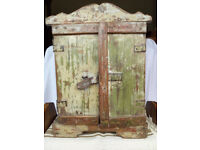 Small vintage/antique Indian painted wooden cupboard