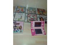 ds with games pink