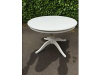 Ikea Ingatorp white round and extendable dining table