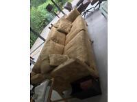 Duresta Trafalgar extra large 3 seater sofa in gold Dragon print