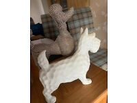 Free Poodle and highland terrier ornament