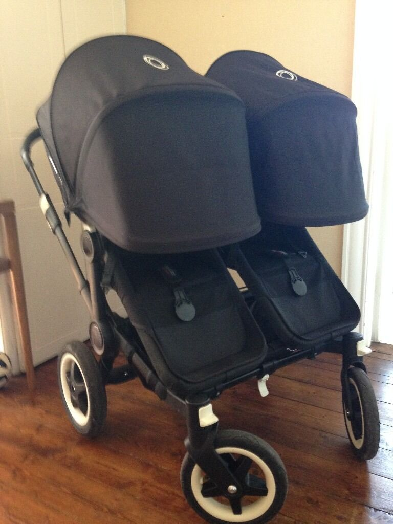 Bugaboo Donkey Duo All Black Edition With Black Fabric