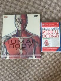 Human Body Book (with disc) and Medical Dictionary