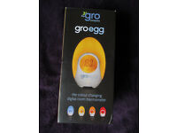 Gro Egg room thermometer with its box and instructions