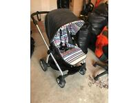 Mamas and papas travel system buggy with carry cot