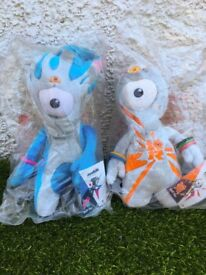 London 2012 Olympic Mandeville and Wenlock Mascot Toys