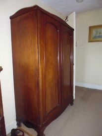 Late Victorian Wardrobe in good condition