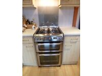Freestanding Hotpoint double gas oven