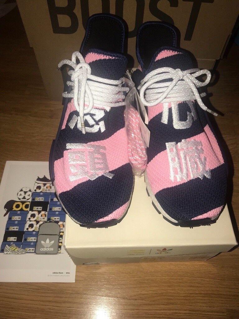 a256dcf16ef4d6 Brand new Adidas NMD HU Pharrell x Billionaire Boys Club Navy Pink UK 8