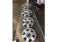 VW Bora Alloys 5X100 16in 6.5J ET42 VW Alloy Wheels