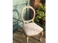 Beautiful Antique Dining Boudoir Chair.