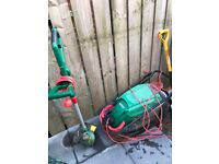 Hover mower/ electric saw/ strimmer/ rake