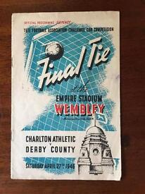 FA Cup Final Programme 1946 - Charlton Athletic v Derby County