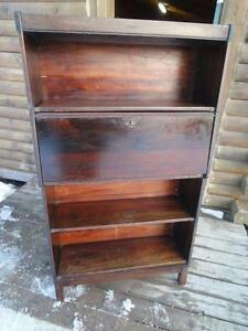 ANTIQUE BARRISTER BOOKCASE / SECRETARY DESK