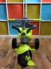 SmarTrike green and grey tricycle