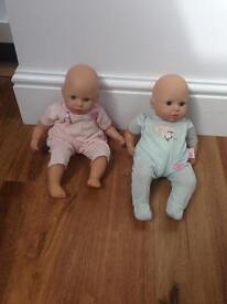My first Annabell dolls.