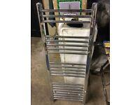 Used Chrome ladder style radiator 1150 x 450mm