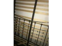 Big Metal bed frame with latts! King size.