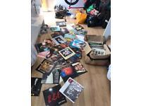 Assorted box of vinyls