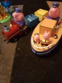 grandpa pigs boat and train
