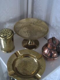 Brass : collection of ornaments