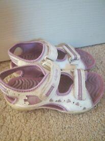 Little girls Clarks sandals, size 10.5