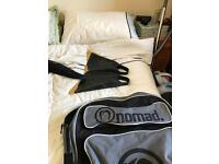 Bodyboard fins x 2 medium, O'Neil winter wetsuit, bodyboard bag ,
