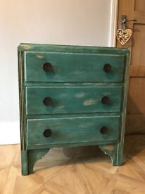 Shabby Chic Chest of Drawers in Provence Annie Sloan Chalk Paint