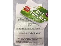 Argos gift card voucher worth £299