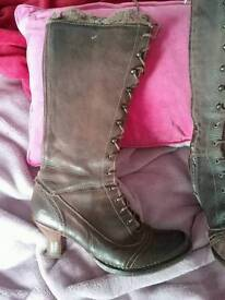 Brown leather boots size 6