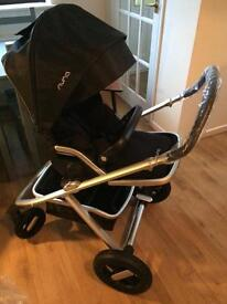BRAND NEW Nuna Ivvi Pram Pushchair with carrycot rain over adapters footmuff