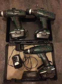 Cordless Hammer Drill 15.6v Bundle With Extras
