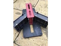 Magic mitre saw block for coving etc