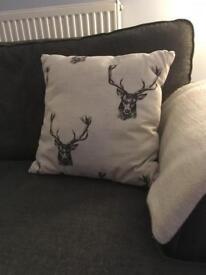 2 Stag print Cushions