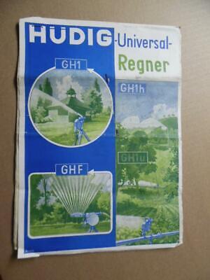 C.1952 Hudig Agricultural Farm Irrigation Equipment Catalog Sheet Lot Vintage