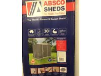 8x5ft Absco Regent shed with snaptight fitting system