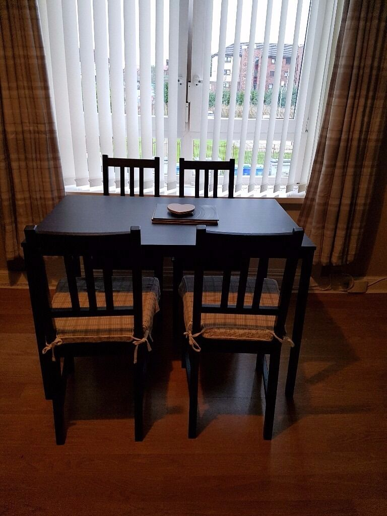 dining table and 4 chairs sold pending pick up in east end glasgow
