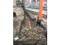 Mini digger hire/groundworks