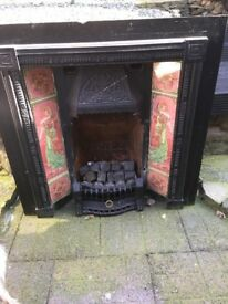 Fireplace and gas fire - very heavy steel