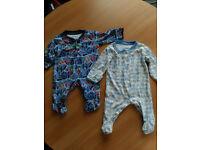 Jojo Maman Bebe 0-3 months bodysuits (2x)